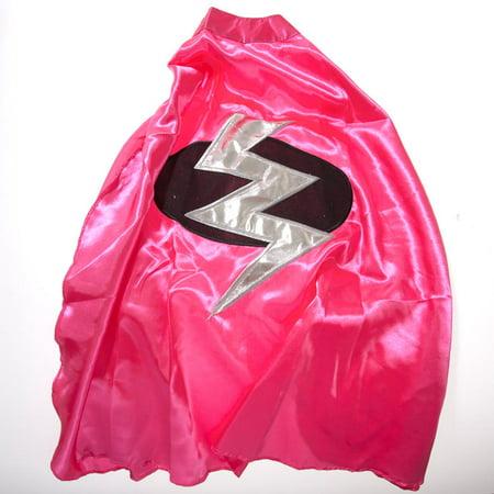 Children's Pink Lightning Bolt Superhero Cape