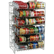 Atlantic Canrack Stackable or Side-by-Side Kitchen Organizer, 6 Tiers, Silver