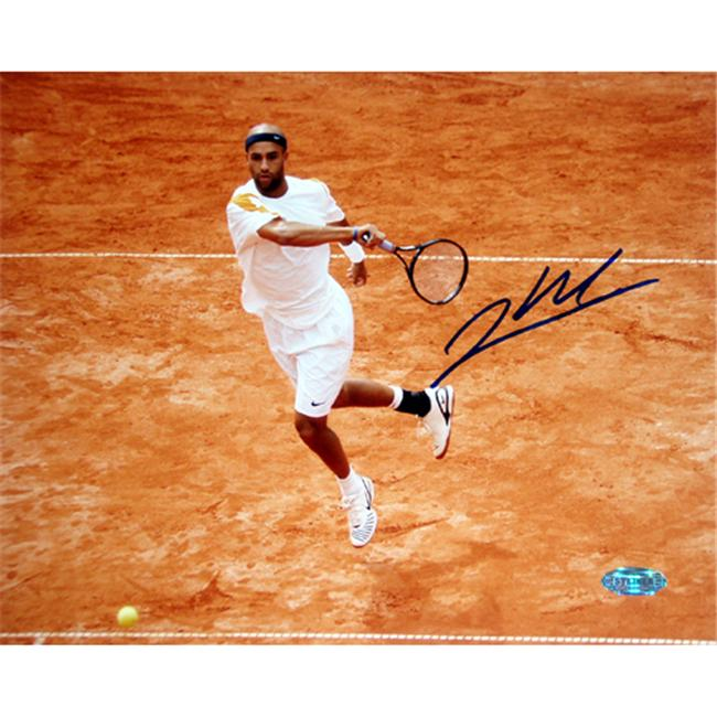 Steiner Sports BLAKPHS008004 James Blake Red Clay In Air Signed 8x10 Photo