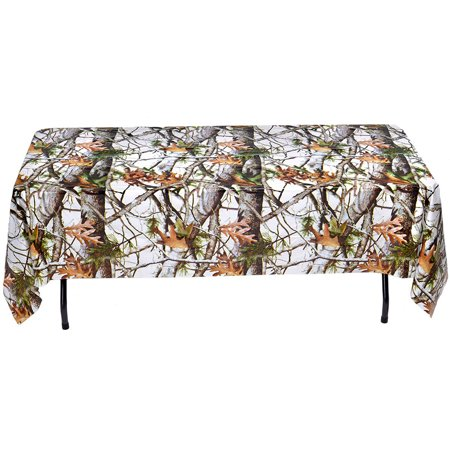 White Camo Table Cover (Each) - Party Supplies