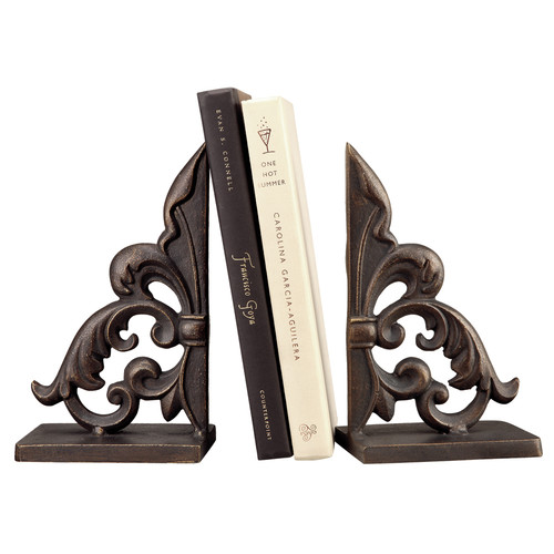 SPI Home Ornate Fleur de Lis Book Ends (Set of 2)