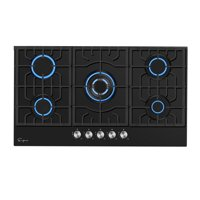 """Empava 36"""" Gas Stove Cooktop with 5 Italy Sabaf Burners - LPG Convertible in Black"""