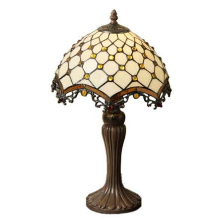 Warehouse of Tiffany Tiffany-style Jewel Roman Table Lamp