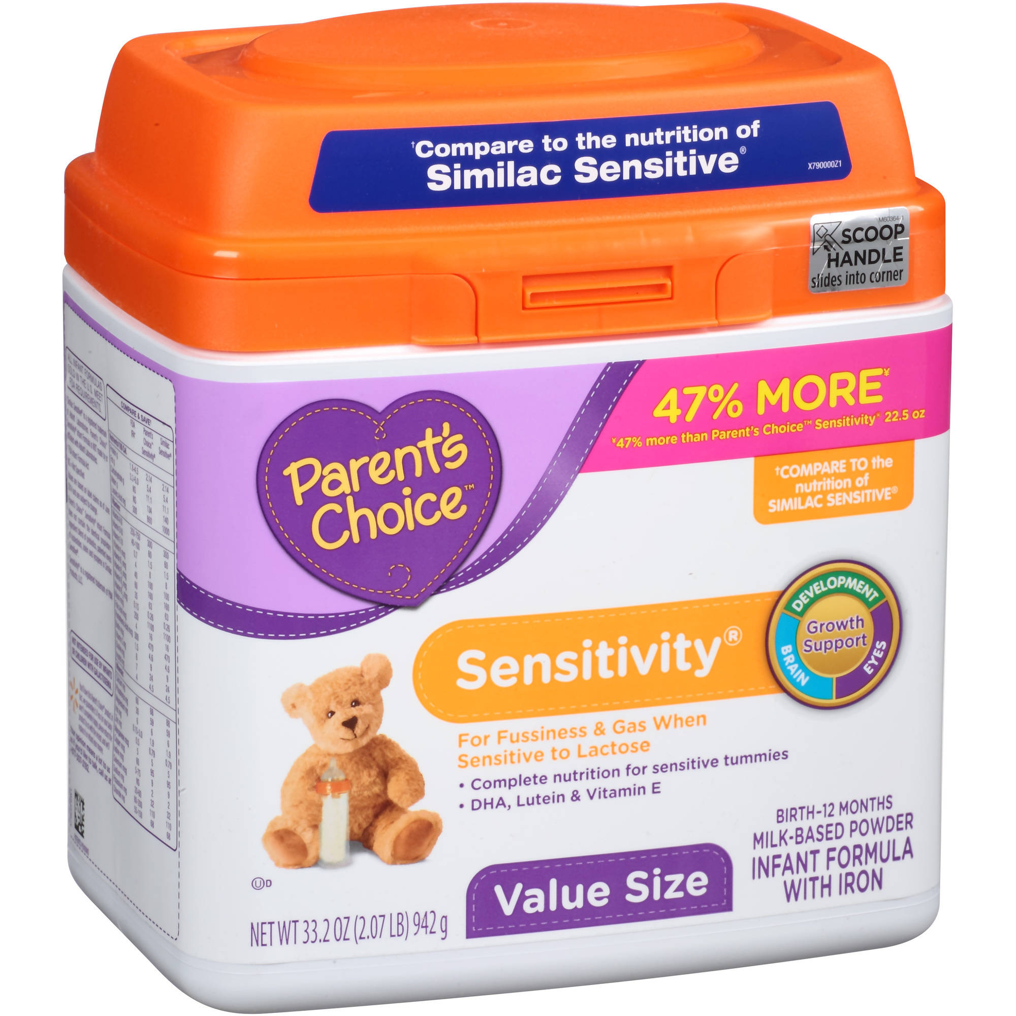 Parent's Choice Sensitivity Powder Infant Formula with Iron, 35oz