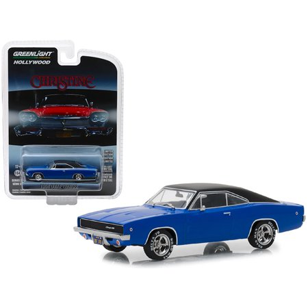 "1968 Dodge Charger Dark Blue with Black Top ""Christine"" (1983) Movie 1/64 Diecast Model Car by Greenlight"