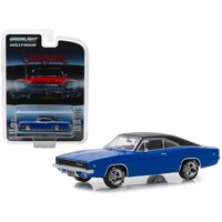 """1968 Dodge Charger Dark Blue with Black Top """"Christine"""" (1983) Movie 1/64 Diecast Model Car by Greenlight"""
