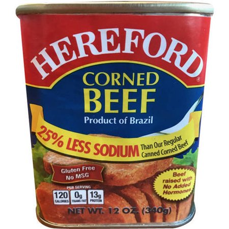 (2 Pack) Hereford Low Sodium Corned Beef, 12 oz (Hereford Beef)