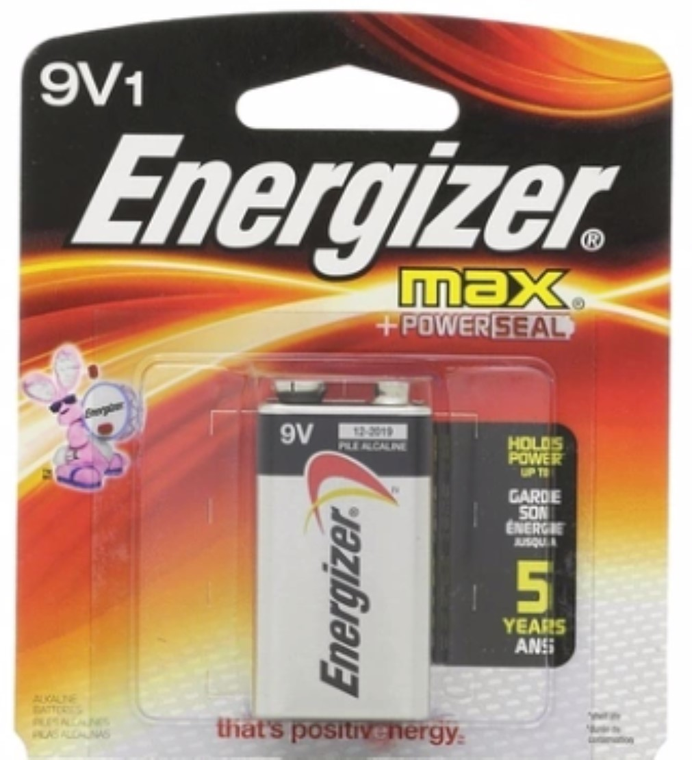 Energizer MAX Alkaline Battery 9 Volt 1 Each