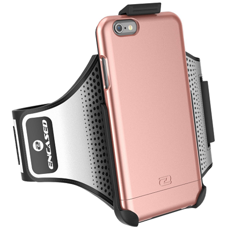 iPhone 6S Running Armband & Case, [S-TREK] Gym Ready Secure-fit Workout Band w/ Hybrid Sport Cover (Rose Gold)](Gold Snake Armband)