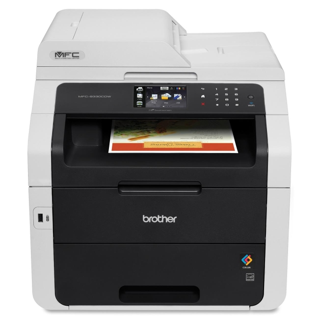 Brother MFC-9330CDW LED Multifunction Printer Color Plain Paper Print Desktop Copier Fax Printer Scanner 22 ppm Mono 22... by Brother