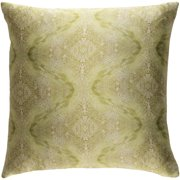 """Surya KLS2-1818P Kalos 18"""" Wide Square Damask Silk Covered Polyester Filled Accent Pillow"""