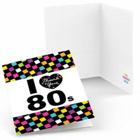 80's Retro - Totally 1980s Party Thank You Cards (8 count)