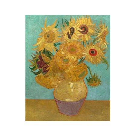 Sunflowers, 1889 Print Wall Art By Vincent van Gogh