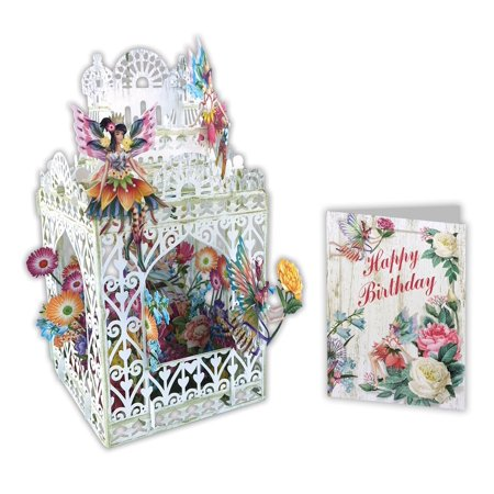Paper d'Art Fairy Happy Birthday 3D Pop Up Greeting Card (Other) Fairy Art Card