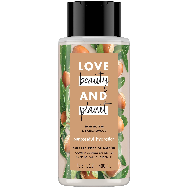 Love Beauty And Planet Shea Butter & Sandalwood Purposeful Hydration Shampoo, 13.5 oz