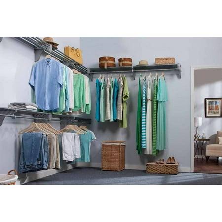 Ez shelf expandable walk in closet kit up to 30 8 for Walk in wardrobe kits