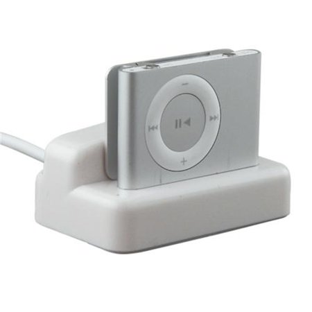 Insten Multi Function Cradle Charger For Apple iPod shuffle 2nd Gen, White