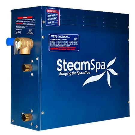 SteamSpa D-1050 QuickStart 10.5 kW Steam Bath (Aqualisa Quartz 10-5 Kw Electric Shower Chrome)
