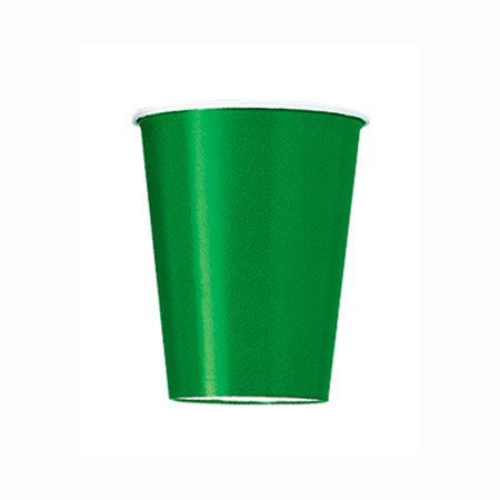9oz Paper Cups, Green, 14ct - Glow In The Dark Cup