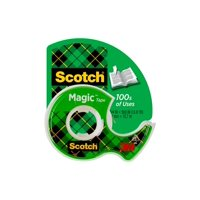 Scotch Magic Tape, 1/2 in x 800 in, Clear, 1 Dispenser/Pack