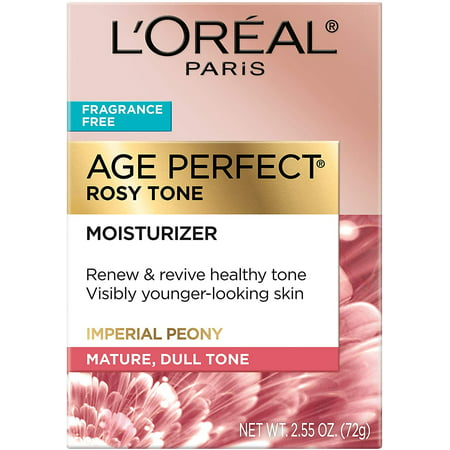 L'Oreal Paris Skin Care I Age Perfect Rosy Tone Fragrance Free Moisturizer for Visibly Younger looking skin I Anti-Aging Day Cream I 2.55 Oz