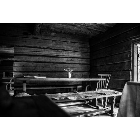 Canvas Print White Old House Black Black and White Nature Stretched Canvas 10 x 14 ()