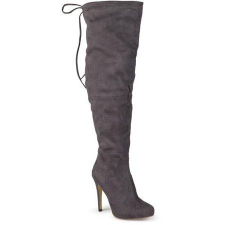 Brinley Co. Womens Wide Calf High Heel Over-the-knee