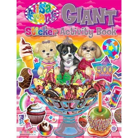 bendon lisa frank giant sticker activity book (27007)
