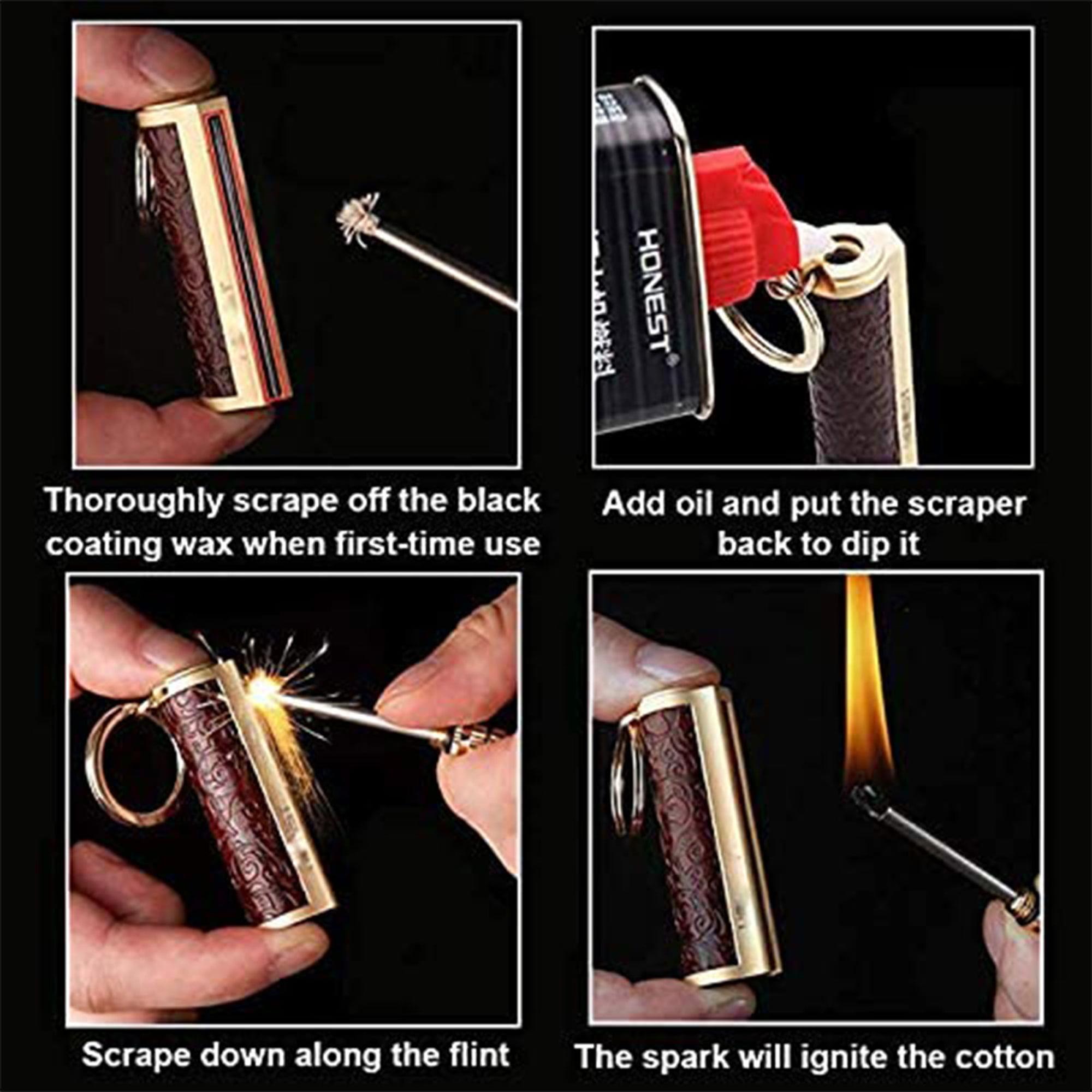 DRAGON'S BREATH IMMORTAL Fire Starter Matchstick Lighter Waterproof Flint Metal