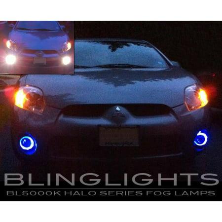 2006 2007 2008 Mitsubishi Eclipse White Halo Fog Lamps Driving Lights Kit (Mitsubishi Eclipse Fog Lights)