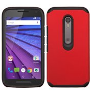 For Moto G 3rd gen Red/Black Astronoot Phone Protector Cover