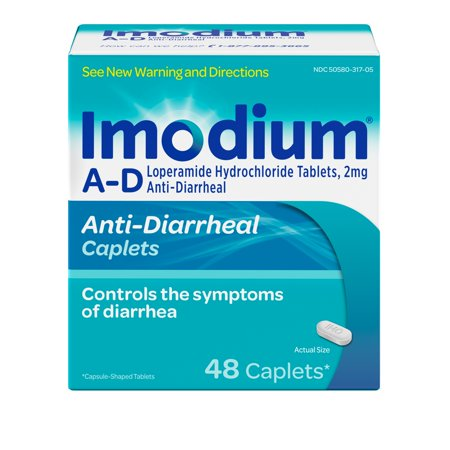 Imodium A-D Diarrhea Relief Caplets, 48 count, 2 mg