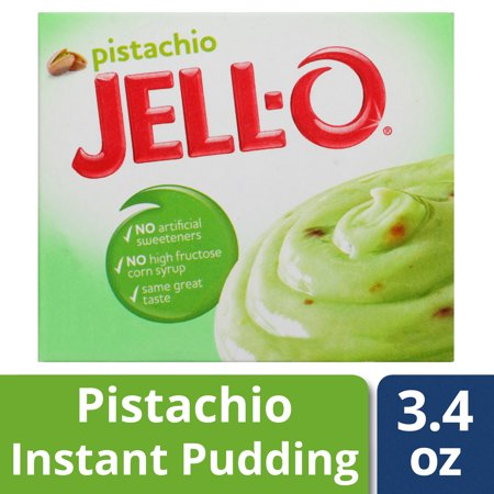 (4 Pack) Jell-O Pistachio Instant Pudding, 3.4 oz Box