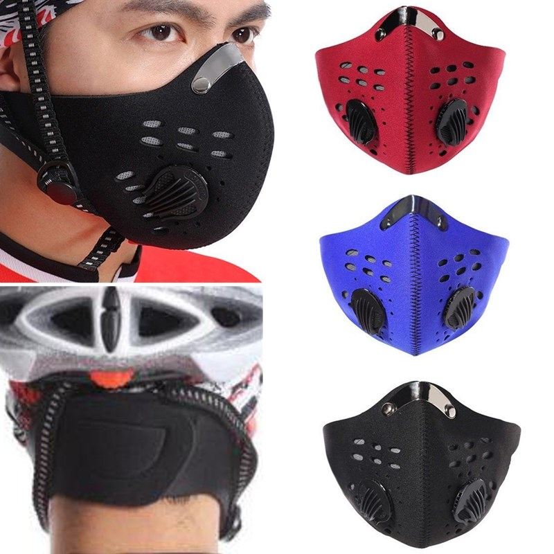 Anti-Pollution Bike Bicycle Riding PM2.5 Gas Protection Filter Respirator Dust Mask Head
