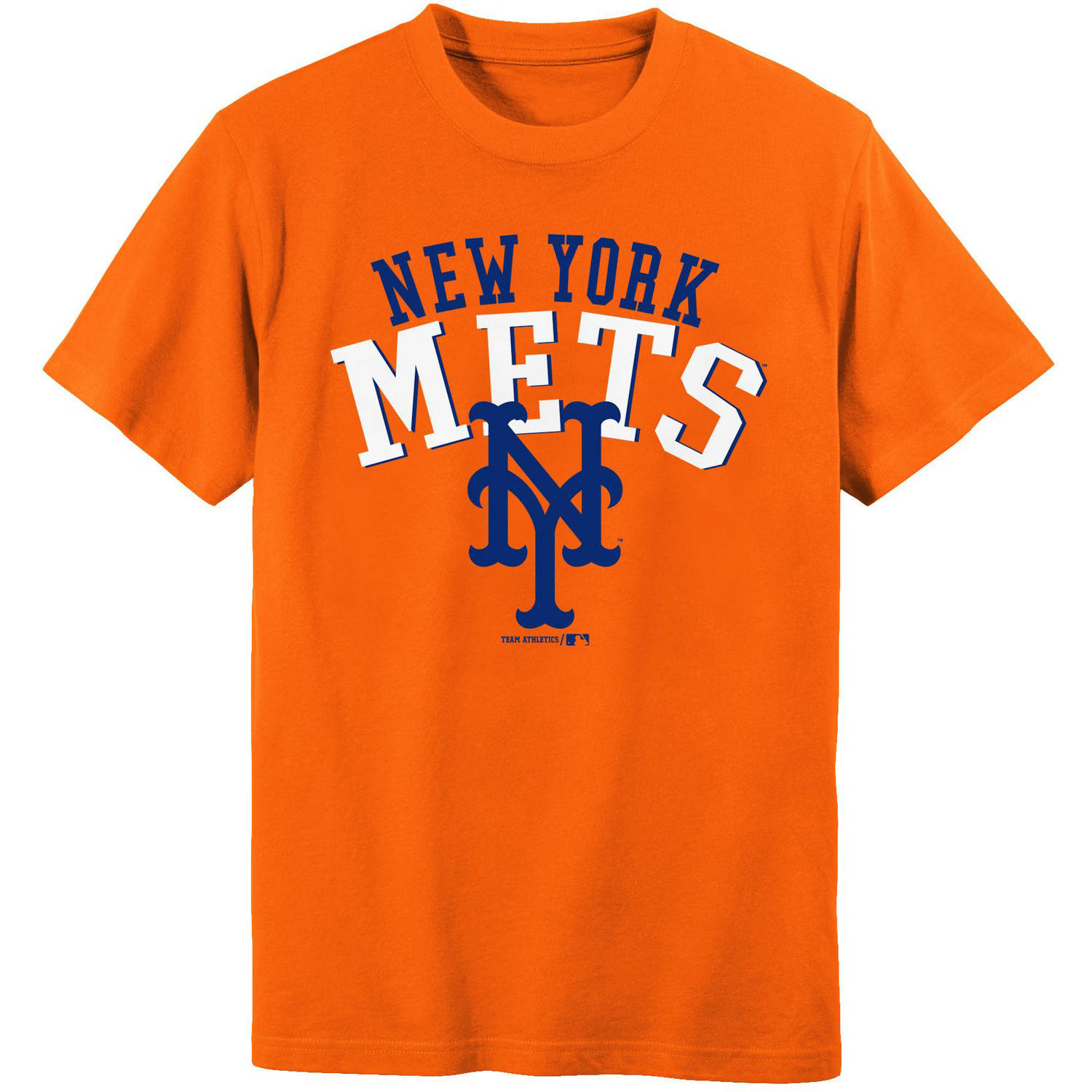 MLB New York Mets Boys 4-18 Short Sleeve Alternate Color Tee Team