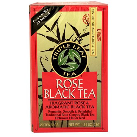 Rose Black Tea (Triple Leaf Tea Rose Black Tea 20 Tea Bags)