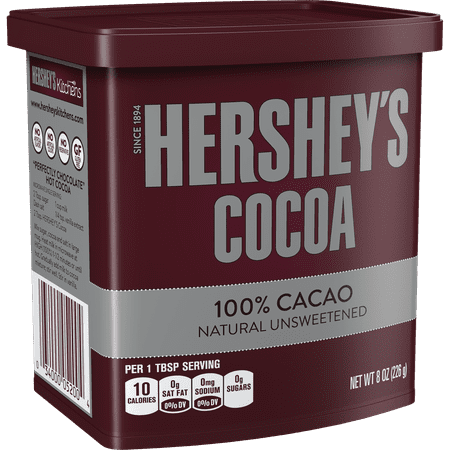 (2 Pack) Hershey's, Natural Unsweetened Cocoa, 8 oz