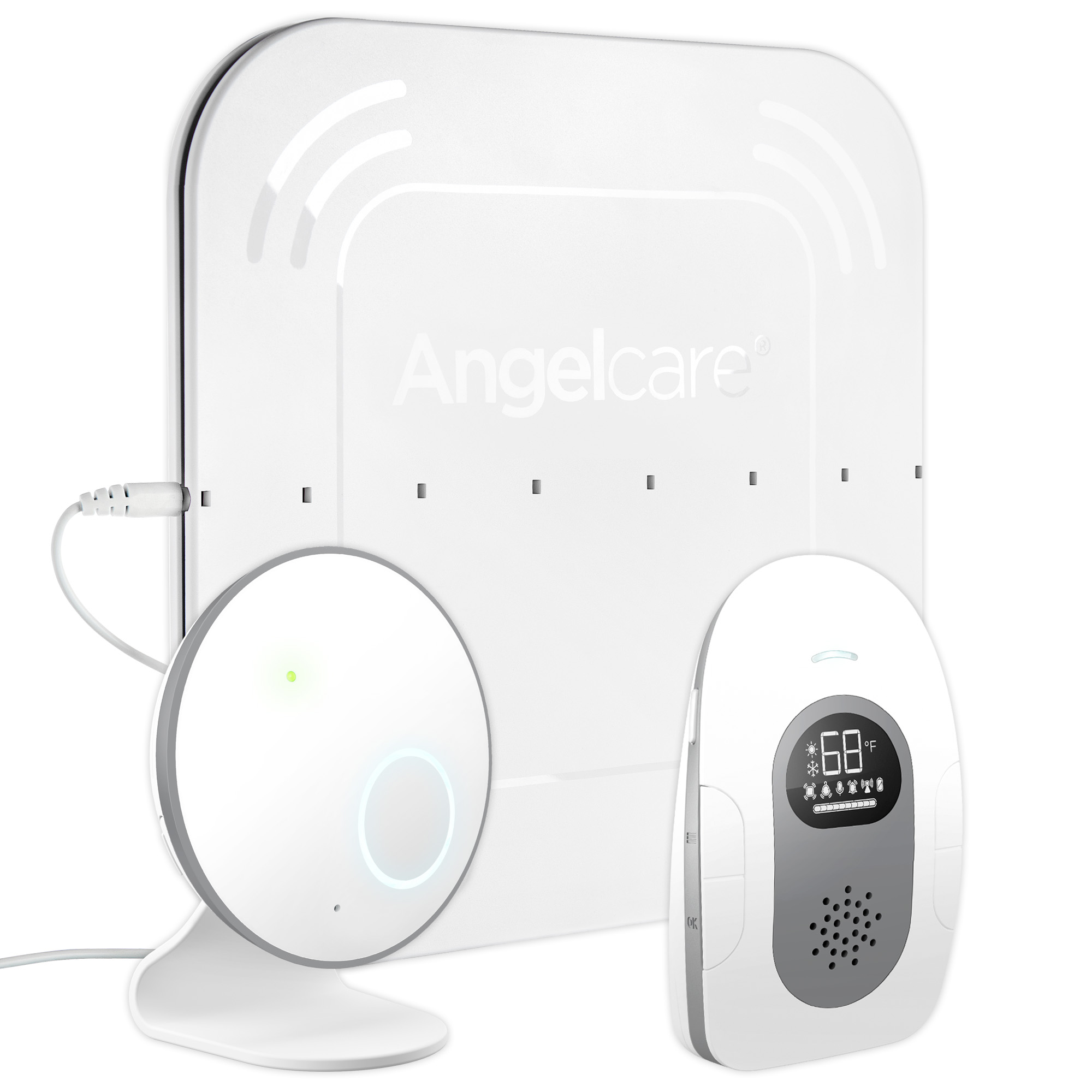Angelcare AC115 Baby Breathing and Audio Monitor with Wired Sensor Pad