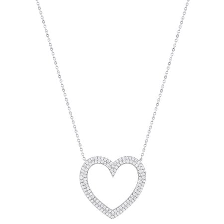 Tiffany & Co. Platinum Diamond Heart Necklace 0.57 Cttw (Authentic Tiffany & Co Jewelry)