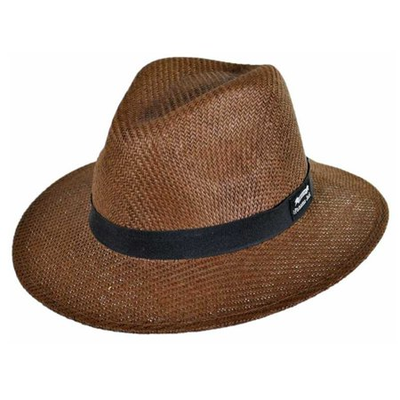 c3d4d971d20697 Panama Jack - Panama Jack Men's Safari MatteToyo Hat (Brown;Medium ...