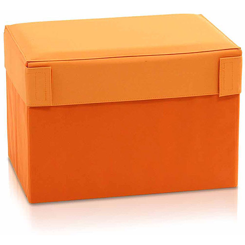 Rectangular Foldable Storage Stool Ottoman, Multiple Colors