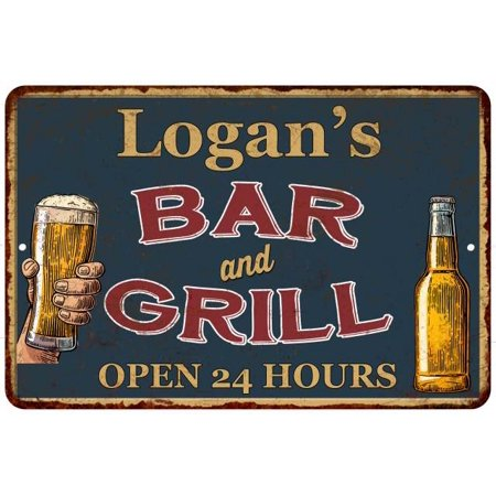 UPC 786359016496 product image for Logan's Green Bar and Grill Personalized Metal Sign 8x12 Decor 108120044165   upcitemdb.com
