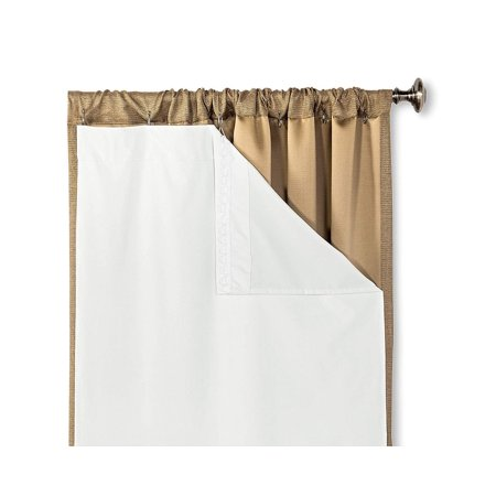 - HLC.ME White Thermal 100% Blackout Curtain Rod Pocket Liner for Complete Darkness, Energy Efficiency, & Privacy
