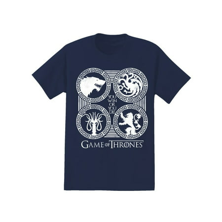Game of Thrones 4 Sigil Men's Graphic Tee, up to size 2XL - Game Of Thrones Outfits