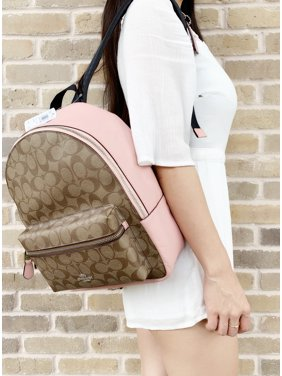 fed62abf8406 Product Image Coach F32200 Medium Charlie Backpack Khaki Signature Petal  Pink