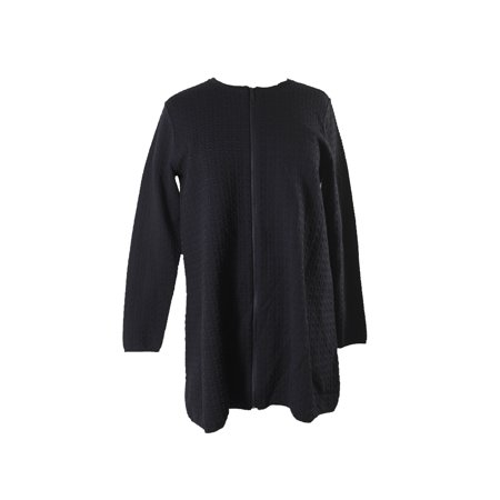 Alfani Black Jacquard Zip Front Jacket M Jacquard Zip Jacket