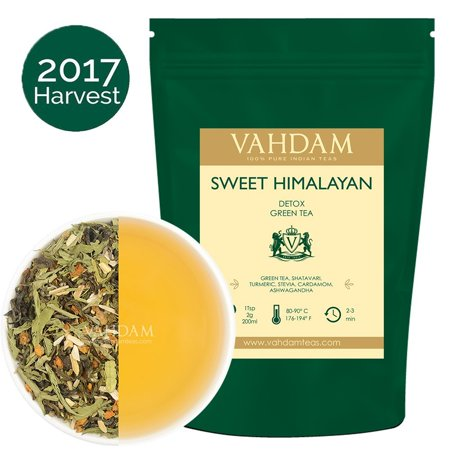 Sweet Himalayan Detox Green Tea Leaves (100 Cups) - Stevia