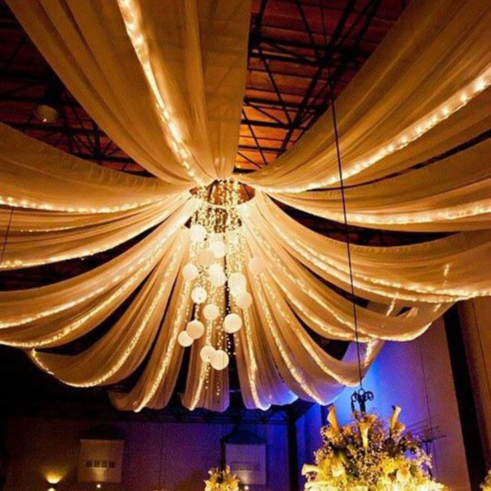 Efavormart Panel Hoop Ceiling Draping Hardware Kit For Wedding Party Banquet Event Free Installation Tool Kit Walmart Com Walmart Com