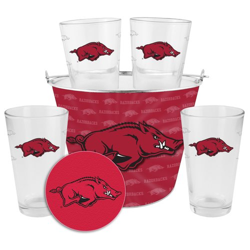 Boelter Brands NCAA Gift Bucket Set, University of Arkansas Razorbacks
