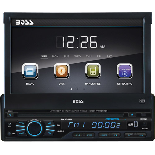 "Boss Audio BV9967B - 1-DIN In-Dash DVD/CD Receiver with 7"""" LCD & Built-in Bluetooth"